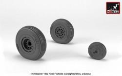 Hawker Sea Hawk wheels w/ weighted tires