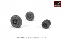 F-14A/B Tomcat wheels w/ weighted tires