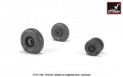 F-14D Tomcat wheels w/ weighted tires