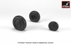 """Hawker """"Hurricane"""" wheels w/ weighted tires"""