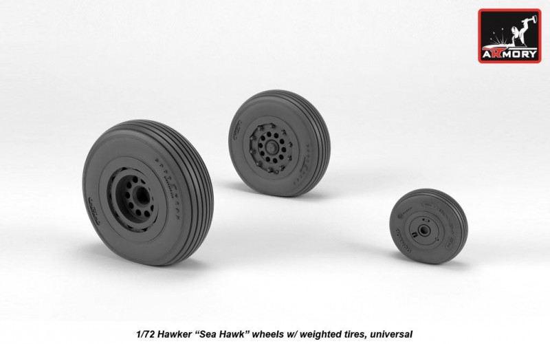 """Hawker """"Sea Hawk"""" wheels with weighted tires"""