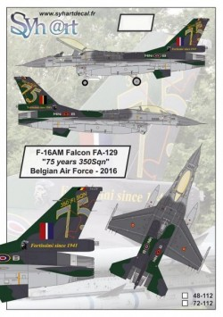 "F-16AM Falcon FA-129 ""75 years 350Sqn"" Belgian Air Force - 2016"