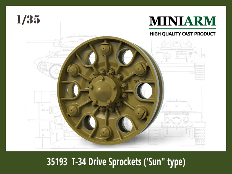 "T-34 Drive Sprockets (""Sun"" type)"