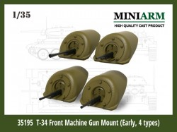 Т-34 Front Machine Gun Mount (4 type) set #1
