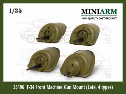 Т-34 Front Machine Gun Mount (4 type) set #2