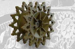 US light tank M3/M3A1/M3A3/M5 Drive Sprockets (14-teeth, early)