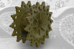 US light tank M3A1/M3A3 Drive Sprockets (14-teeth, late)