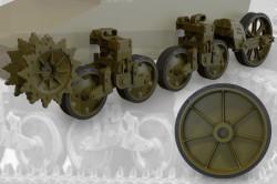 US light tank M5A1 (late)/M8 HMC (late) suspension set