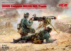 WWII German MG08 MG Team (2 figures)
