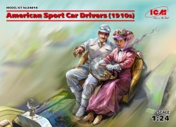 American Sport Car Drivers(1910s)(1 male 1 female figures)