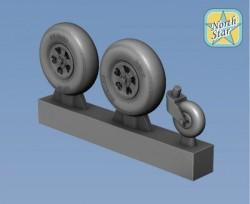 Spitfire wheels set 5 spoke, set for 2 airplanes