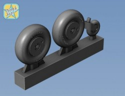 Spitfire wheels set with covered main disk, set for 2 airplanes