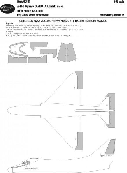 A-4B/C/E/F Skyhawk CAMOUFLAGE kabuki masks