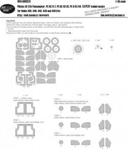 Pilatus UA-23A Peacemaker, PC-6C/H2, PC-6C/B2-H2, PC-6C B2/H4 EXPERT kabuki masks