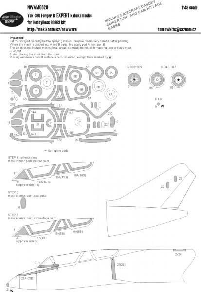 Yak-38U Forger B EXPERT kabuki masks