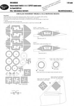 Messerschmitt Me262 A-1/A-2 EXPERT kabuki masks
