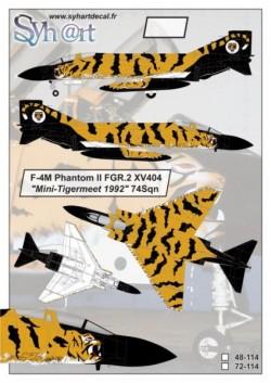"""F-4M Phantom II FGR.2 XV404 """"Tigermeet 1992"""" 74Sqn"""