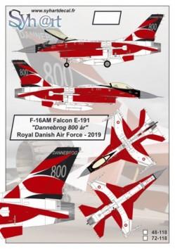 """F-16AM Falcon E-191 """"Dannebrog 800 år"""" Royal Danish AF - 2019"""