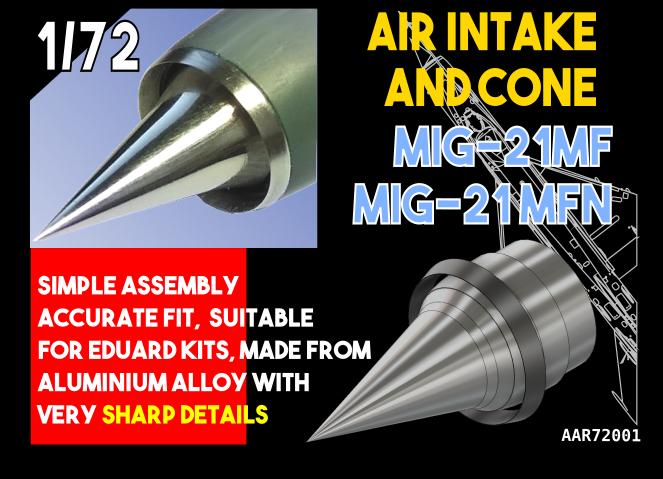 Air Intake and Cone MiG-21MF, MFN