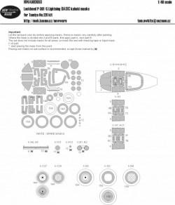 Lockheed P-38 F/G Lightning BASIC kabuki masks