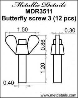 Butterfly screw 3
