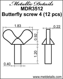 Butterfly screw 4
