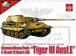"German heavy tank WWII E-75 mit 12.8cm L/55 ""tiger III Ausf.E"""