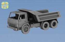 KamAZ 5511 Dump truck cabin without sleeping bag resin model kit