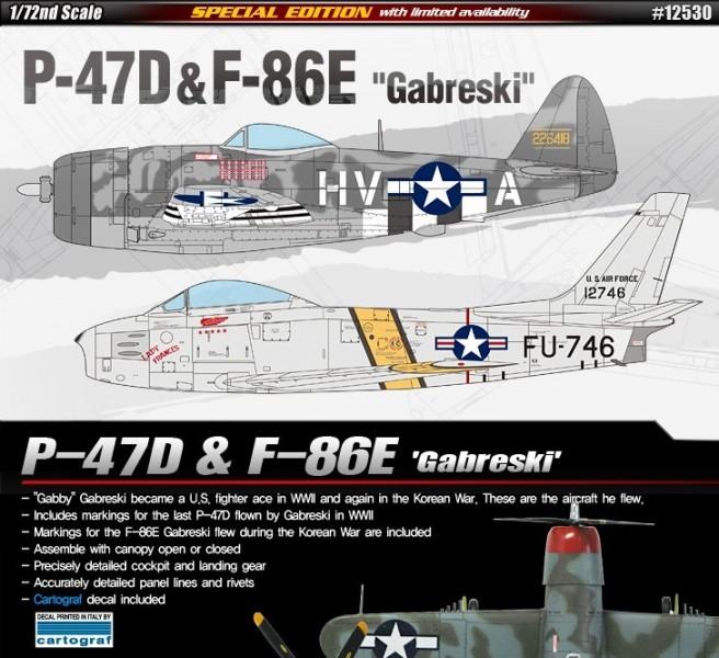 P-47D & F-86E