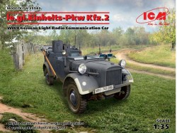 le.gl.Einheitz-Pkw KFZ.2,WWII GermanLigh Radio Communication Car