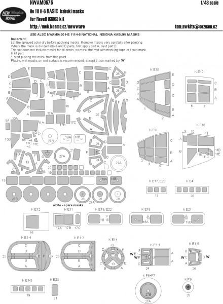 He-111 H-6 BASIC kabuki masks