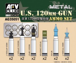 US M1A1/M1A2 M256 120mm Ammo set (Aluminum)
