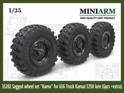 "Sagged wheel set ""Kama"" for 6X6 Truck Kamaz -5350 (6pcs )"