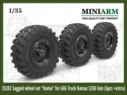 "Sagged wheel set ""Kama"" for 6X6 Truck Kamaz -5350 (6pcs )"