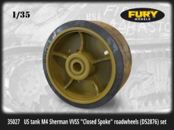 "US tank M4 Sherman VVSS ""Closed Spoke"" roadwheels (D52876) set"