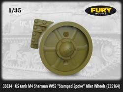 """US tank M4 Sherman VVSS """"Stamped Spoke"""" Idier Wheels (C85164"""