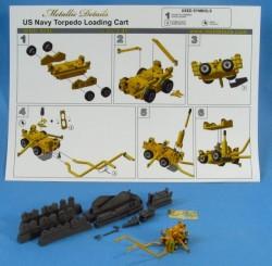 U.S. Navy torpedo loading cart