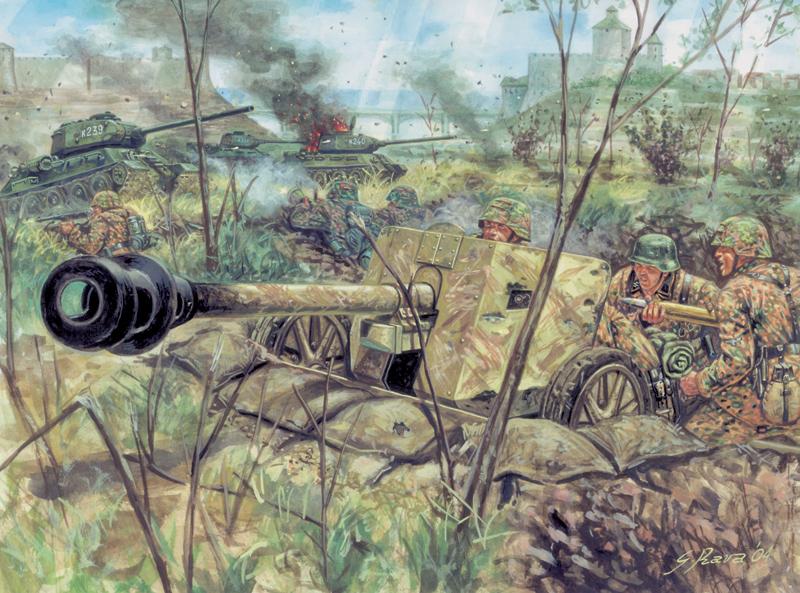 GERMAN PAK40 AT GUN  CREW