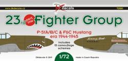 23rd FG P-51A/B/C & F-6C Mustang