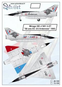 """Mirage IIIE 3-XT """"50 years EC 3/3 Ardennes 1993"""""""