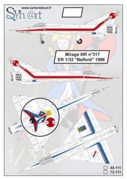 """Mirage IIIR #317 """"ER 1/33 Belfort"""" 1986"""
