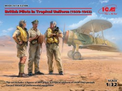 British Pilots in Tropical Uniform(1939-1943)(3 figures)