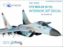 MiG-29 9-13 Interior 3D Decal