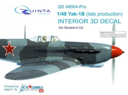 Yak-1B (late production) Interior 3D Decal advanced skill