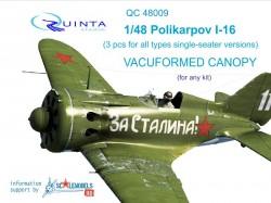 Polikarpov I-16 3 pcs for all single-seater versions