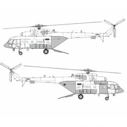 "Mil Mi-8 AMTSh ""Terminator"" Conversion Detail Set (Open Ramp)"