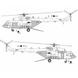 Mil Mi-8 MTV-5/Mi-17V-5 Conversion Detail Set (Open Ramp)