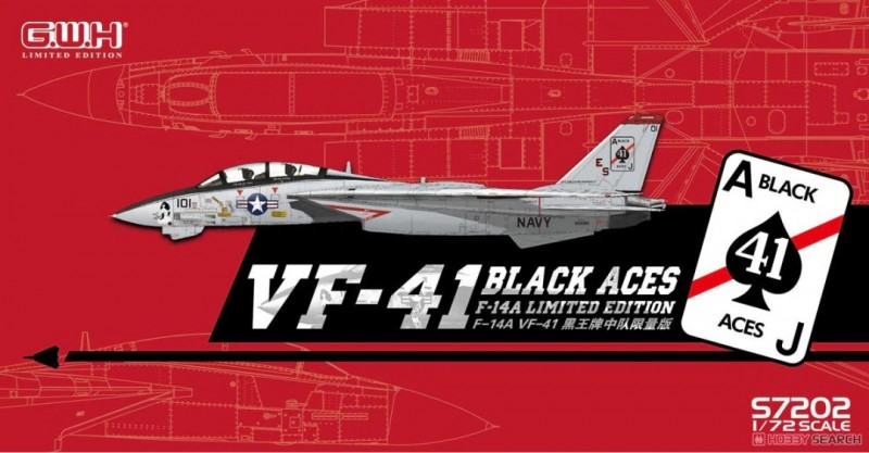"""US Navy F-14A VF-41 """"Black Aces"""" Tomcat - limited"""