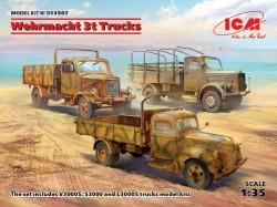 Wehrmacht 3t Trucks (V3000S, KHD S3000, L3000S)