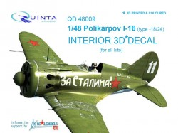 I-16 type 18/24 Interior 3D Decal